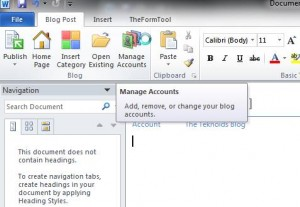 Blogging with Word 2010