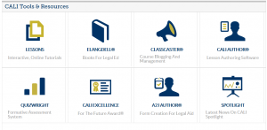 Faculty have access to a wide range of CALI tools and resource