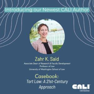 CALI Author Zahr Said Introduction